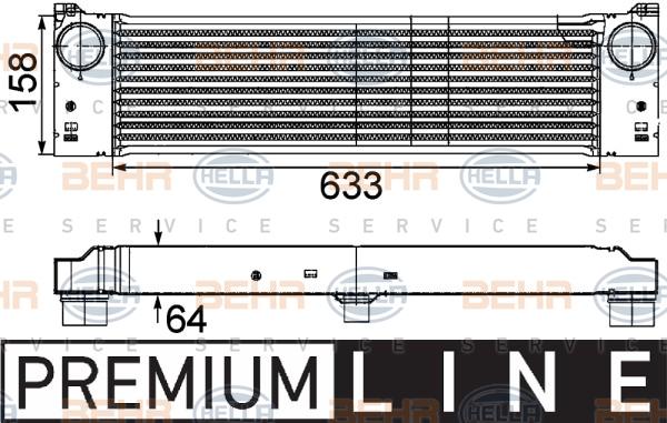 Intercooler radiateur de turbo HELLA 8ML 376 746-491 (X1)
