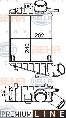 Intercooler radiateur de turbo HELLA 8ML 376 746-541 (X1)