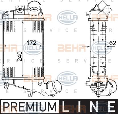 Intercooler radiateur de turbo HELLA 8ML 376 746-561 (X1)