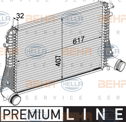 Intercooler radiateur de turbo HELLA 8ML 376 746-721 (X1)