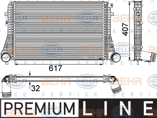 Intercooler radiateur de turbo HELLA 8ML 376 746-741 (X1)