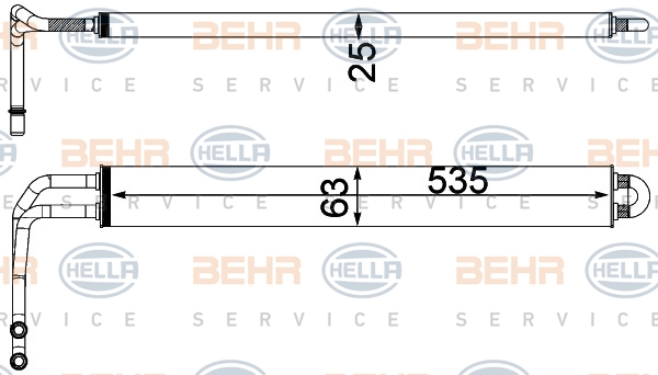 Radiateur de direction HELLA 8MO 376 750-781 (X1)