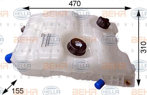 Vase d'expansion HELLA 8MA 376 753-774 (X1)
