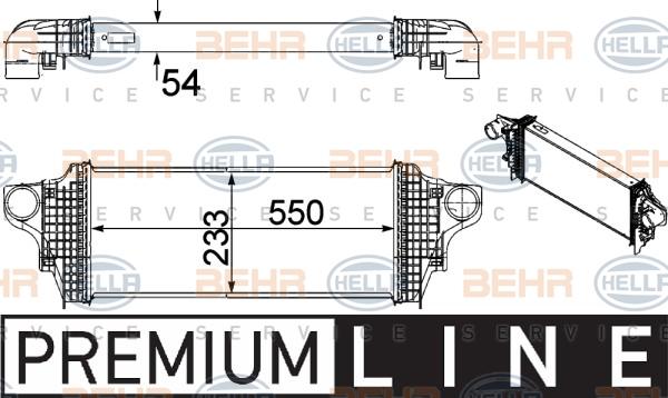 Intercooler radiateur de turbo HELLA 8ML 376 754-611 (X1)