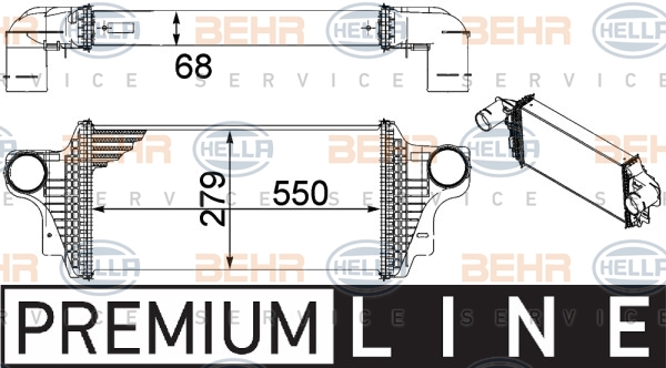 Intercooler radiateur de turbo HELLA 8ML 376 754-621 (X1)
