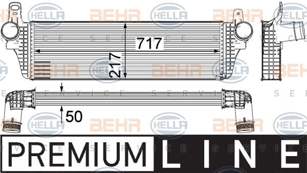 Intercooler radiateur de turbo HELLA 8ML 376 755-471 (X1)