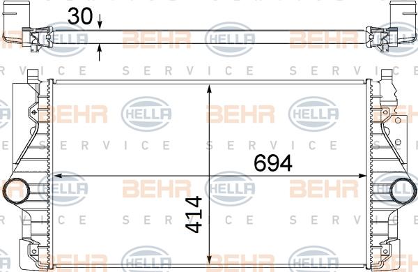 Intercooler radiateur de turbo HELLA 8ML 376 756-141 (X1)