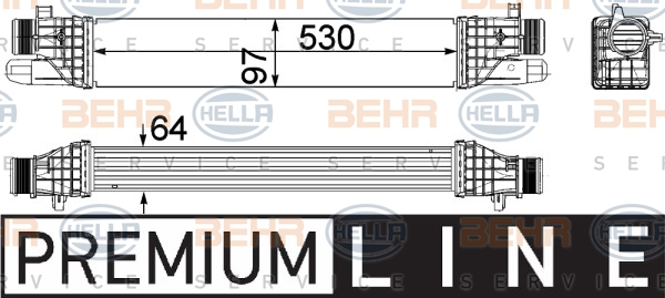 Intercooler radiateur de turbo HELLA 8ML 376 756-271 (X1)