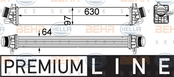 Intercooler radiateur de turbo HELLA 8ML 376 756-291 (X1)