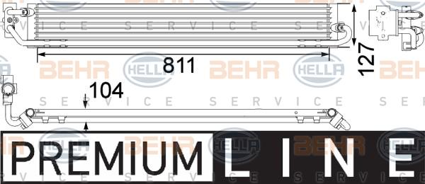 Radiateur huile HELLA 8MO 376 756-361 (X1)