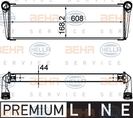 Radiateur de refroidissement HELLA 8MK 376 756-541 (X1)