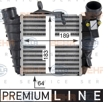 Intercooler radiateur de turbo HELLA 8ML 376 760-581 (X1)