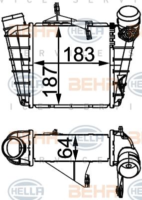 Intercooler radiateur de turbo HELLA 8ML 376 760-584 (X1)