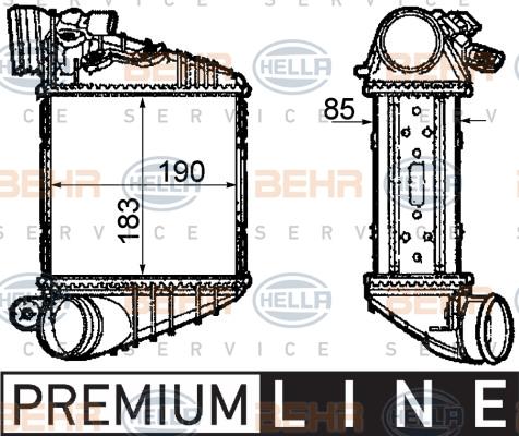 Intercooler radiateur de turbo HELLA 8ML 376 760-591 (X1)