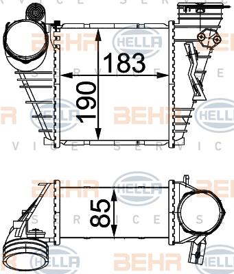 Intercooler radiateur de turbo HELLA 8ML 376 760-594 (X1)