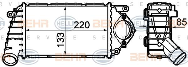 Intercooler radiateur de turbo HELLA 8ML 376 760-631 (X1)