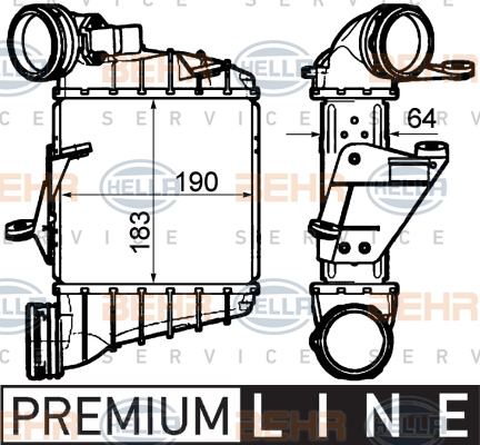 Intercooler radiateur de turbo HELLA 8ML 376 760-681 (X1)
