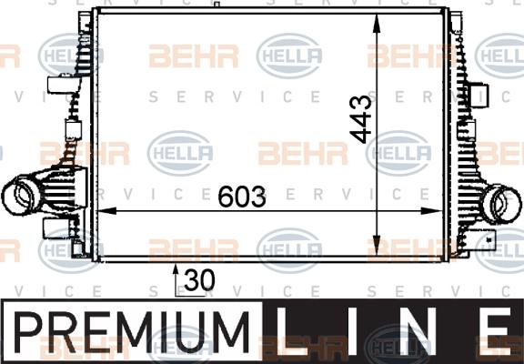 Intercooler radiateur de turbo HELLA 8ML 376 765-061 (X1)