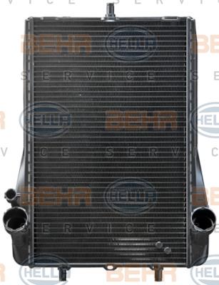 Radiateur de refroidissement HELLA 8MK 376 765-131 (X1)