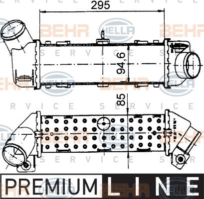 Intercooler radiateur de turbo HELLA 8ML 376 765-171 (X1)