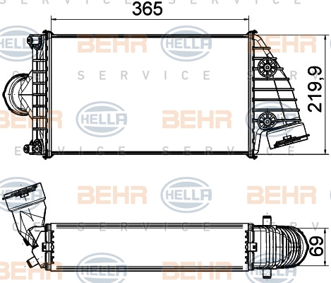 Intercooler radiateur de turbo HELLA 8ML 376 765-191 (X1)