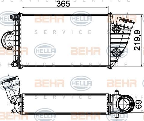 Intercooler radiateur de turbo HELLA 8ML 376 765-211 (X1)