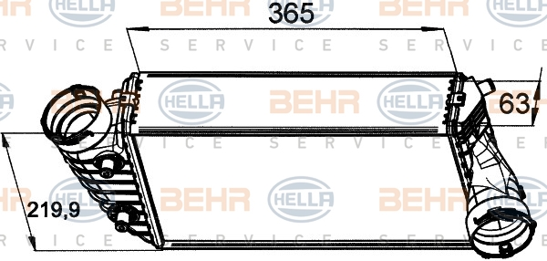 Intercooler radiateur de turbo HELLA 8ML 376 765-451 (X1)