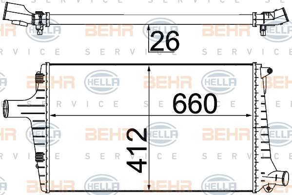 Intercooler radiateur de turbo HELLA 8ML 376 776-044 (X1)