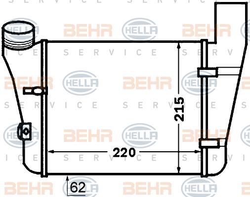 Intercooler radiateur de turbo HELLA 8ML 376 776-081 (X1)