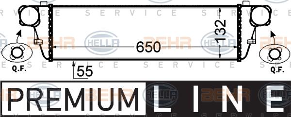 Intercooler radiateur de turbo HELLA 8ML 376 776-351 (X1)