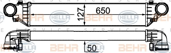 Intercooler radiateur de turbo HELLA 8ML 376 776-354 (X1)