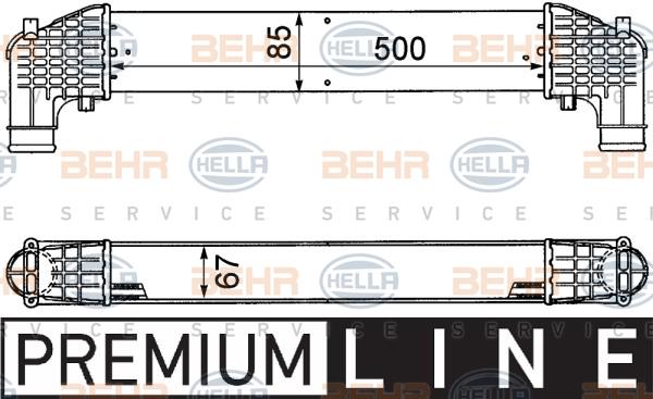 Intercooler radiateur de turbo HELLA 8ML 376 776-571 (X1)