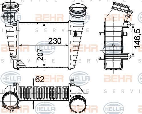 Intercooler radiateur de turbo HELLA 8ML 376 776-611 (X1)