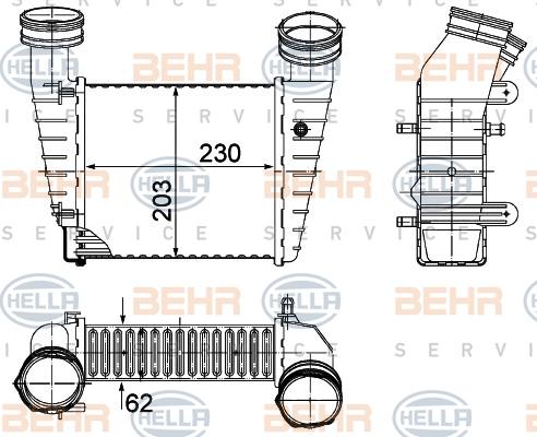 Intercooler radiateur de turbo HELLA 8ML 376 776-634 (X1)