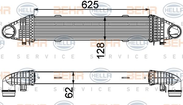 Intercooler radiateur de turbo HELLA 8ML 376 777-091 (X1)