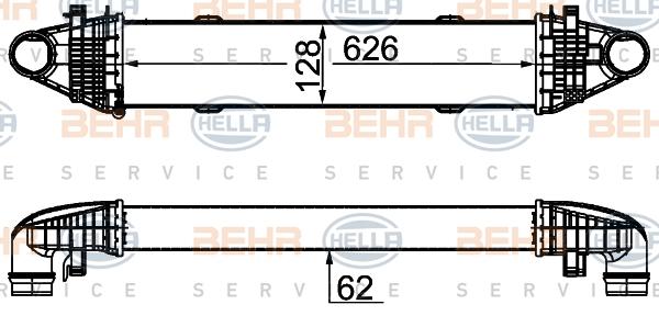 Intercooler radiateur de turbo HELLA 8ML 376 777-094 (X1)
