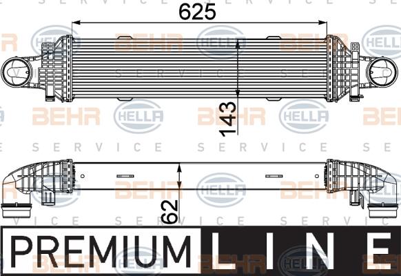 Intercooler radiateur de turbo HELLA 8ML 376 777-101 (X1)