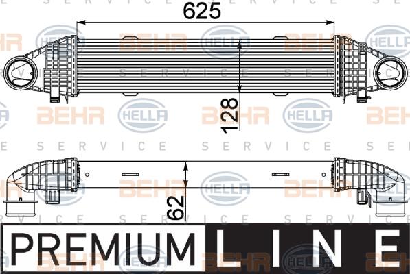 Intercooler radiateur de turbo HELLA 8ML 376 777-111 (X1)