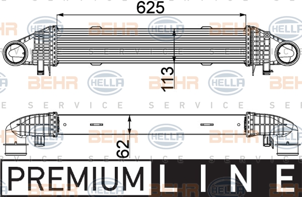 Intercooler radiateur de turbo HELLA 8ML 376 777-121 (X1)