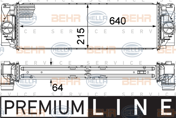 Intercooler radiateur de turbo HELLA 8ML 376 777-391 (X1)