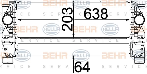 Intercooler radiateur de turbo HELLA 8ML 376 777-404 (X1)