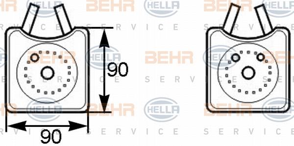 Radiateur huile HELLA 8MO 376 778-001 (X1)