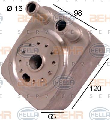 Radiateur huile HELLA 8MO 376 778-021 (X1)