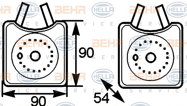 Radiateur huile HELLA 8MO 376 778-031 (X1)