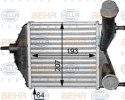 Intercooler radiateur de turbo HELLA 8ML 376 783-551 (X1)