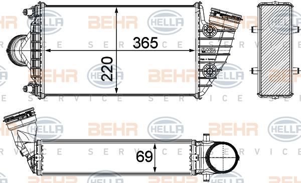 Intercooler radiateur de turbo HELLA 8ML 376 783-571 (X1)
