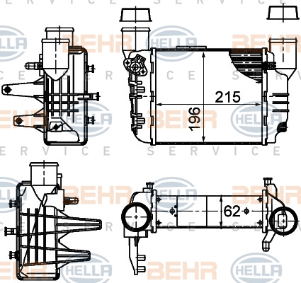 Intercooler radiateur de turbo HELLA 8ML 376 783-581 (X1)