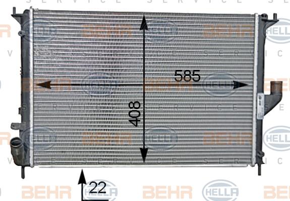 Radiateur de refroidissement HELLA 8MK 376 787-341 (X1)