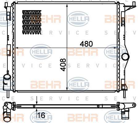 Radiateur de refroidissement HELLA 8MK 376 787-351 (X1)