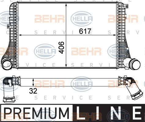 Intercooler radiateur de turbo HELLA 8ML 376 787-621 (X1)
